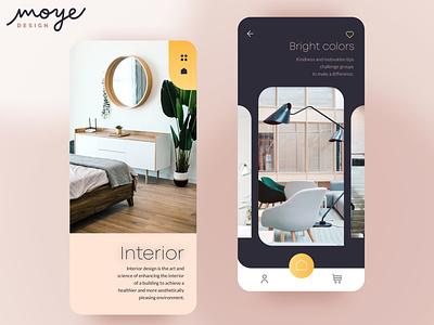 Interior App interior design mobile design ux design ux ui minimal app  design ui design moyedesign moye