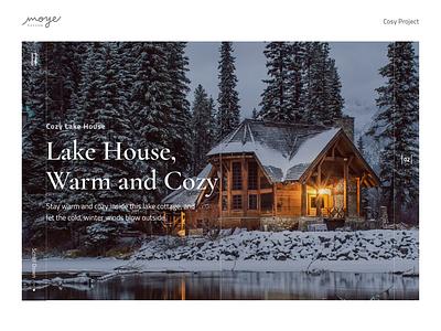 Cosy Cottages animation ui design realestate houses winter website principle animated moyedesign moye
