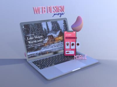 3D Vectary Moye Design Scene