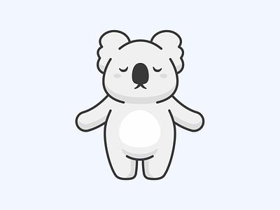 Koala bear aomam cute design cartoon animal adorable illustration character vector koala bear koala