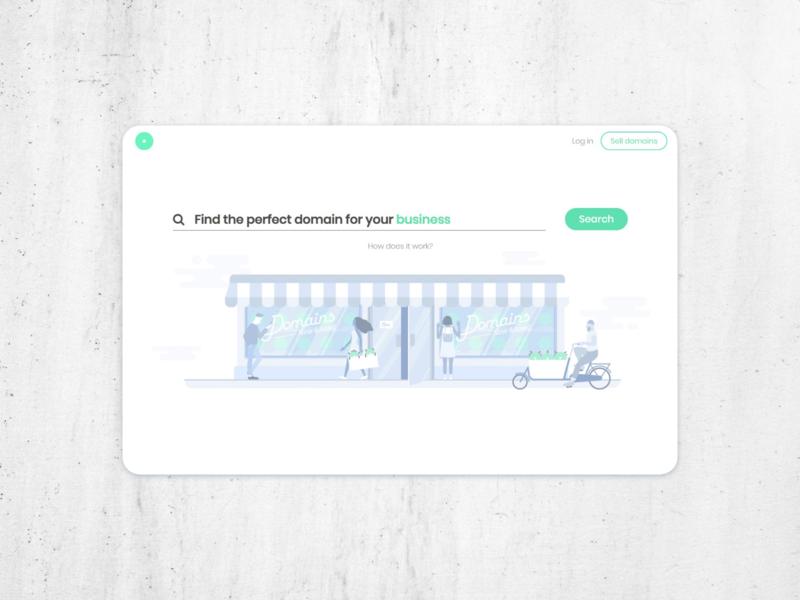 Landing page for a hosting web design ui website web branding landing page flat design