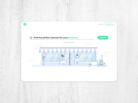 Landing page for a hosting