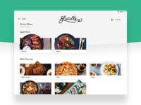 Restaurant Digital Menu concept simple modern clean ui uxui restaurant app restaurant menu minimal tablet app ux experience digital order ordering food menu tablet restaurant