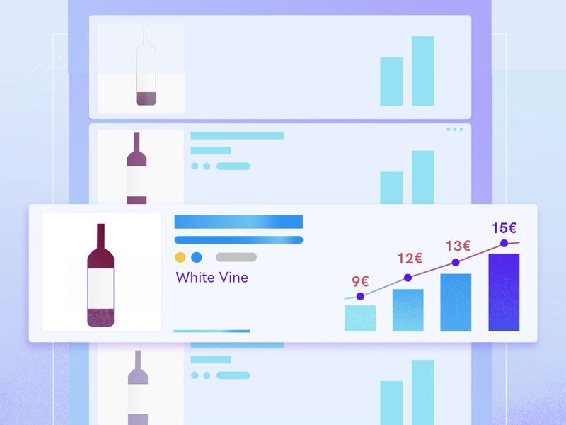 Find your vine with Grape Manager vector flat illustration