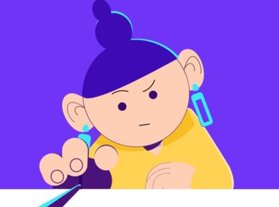 Monday animation flat vector illustration