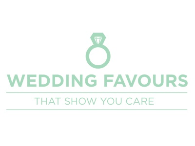 Weddding Favours branding wedding favours green ring married white