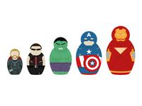 Avengers Russian dolls