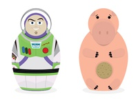 Toy story Russian dolls