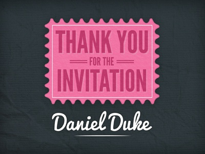 Thank you for the invitation by Vicky Mcfarlane Dribbble