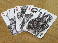 Superhero & Villain playing cards