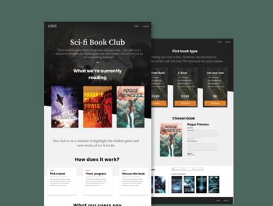 Sci-fi Book Club Design