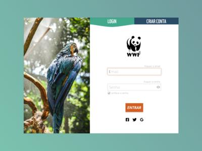 WWF - Login Modal