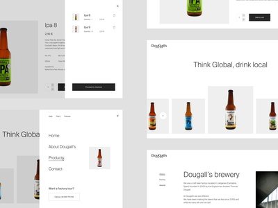 Dougall's Website ux craft beer beer web website design web design interaction design ui  ux ui design ui