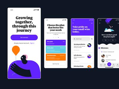 Autism tracker app design illustration typography ios ui design interaction ux ui ux ui app design app