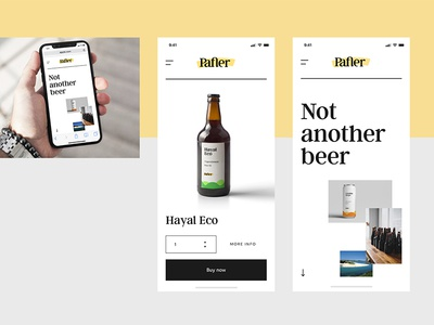 Pafler Brewery Mobile Web web design ux ui uxdesign branding brand beer iphone x mobile uidesign