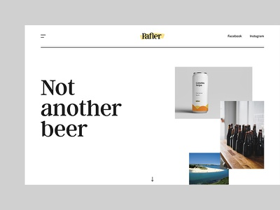 Pafler Brewery Web design ux ui beer brand webdesign website