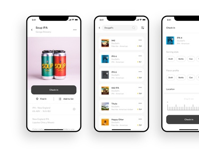 Untappd screens interface design ui  ux design ui ux ui app app design