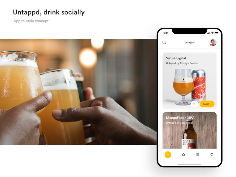 Untappd app re-style app concept design app ui ui ux uidesign design app beer