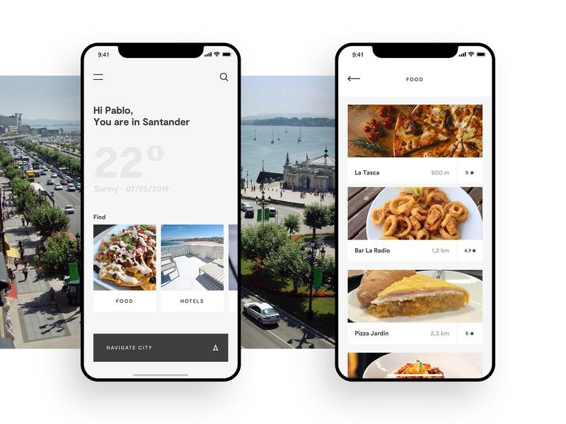 Discover cities App city app design ui  ux ui design app discover