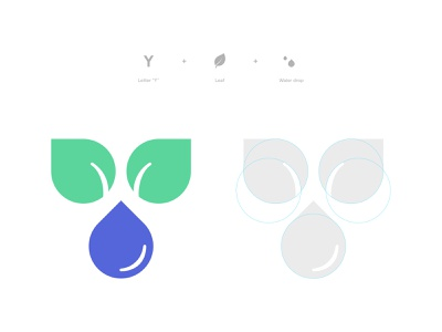 Water Drops Logo proposal design branding logo design branding mark symbol icon logodesign logo
