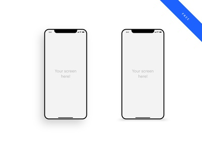 10 free iPhone X mockup templates you can get on Dribbble