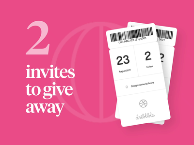 2 Dribbble Invites dribbble invitation dribbble invites designers giveaway invites giveaway dribbble invites invitation