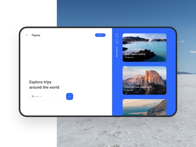 Tripme website web design vacation trip uiuxdesign uiux uidesign ui web
