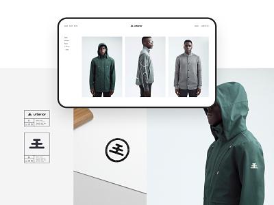 Ulterior Brand clothing brand clothing apparel brand identity logotype logo branding brand ulterior