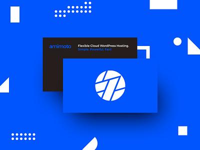 New Business Card aws blue wordpress amimoto