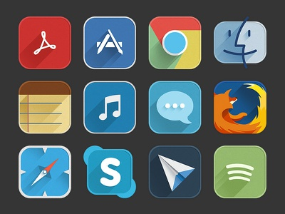 Utilities Appicon firefox skype ui spotify chrome icon safari flat sparrow app icons utilities