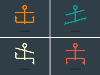 Anchor Dance v.2 anchor dance dancer sea flag sailor seafarer seaman mariner icon flat man
