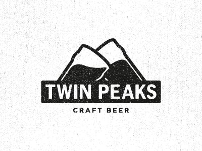 Twin Peaks shop bar flat black retro craft beer pint mountain mountains logo