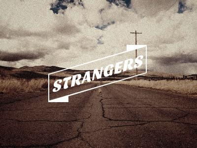 Strangers logo strangers ribbon arrow music band group