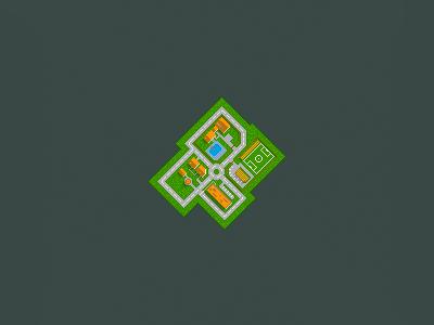 Pixel_City illustration city pixel art village map
