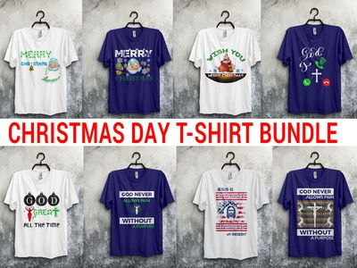 Christmas day t-shirt design bundle