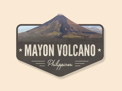 Mayon Volcano Badge