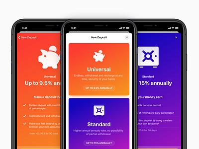 Raiffeisen Online – New Deposit icons native banking list withdrawal credit deposit bank layout card apple raiffeisen cards app ios