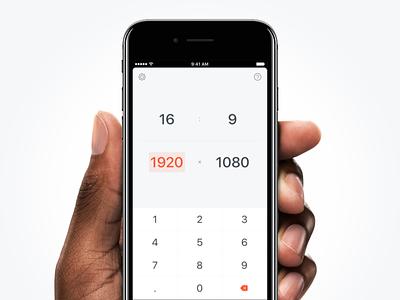 Aspetica – Aspect Ratio Calculator simple dark keyboard rams dieter free ios app calculator ratio aspect aspetica