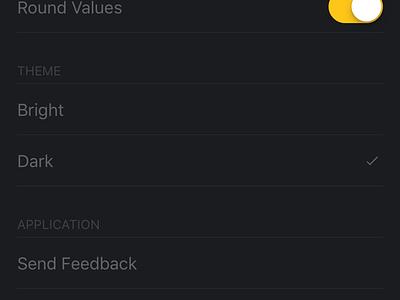Aspetica – Settings (Theme) calculator aspect transition settings animation card ios app