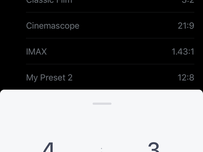 Aspetica – Presets (Select) settings app ios select pan gesture scroll card animation transition list calculator presets