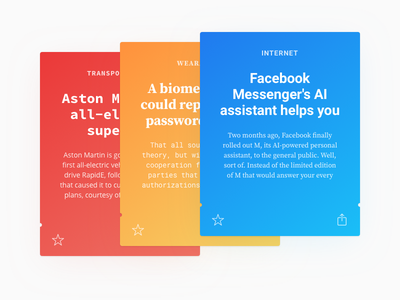 Fontcards – Cards Layout 01 yellow blue red card font news guide layout cards gradients fonts grid