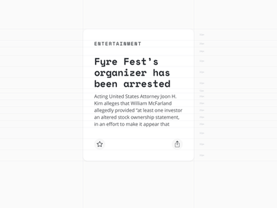 Fontcards – Cards Layout 03 card cards font fonts news guide layout grid grids