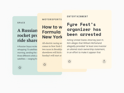Fontcards – Cards Layout 03