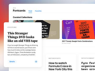 Fontcards – Web Application Beta apple layout grid style mac os mac ios 11 web ios cards fonts fontcards