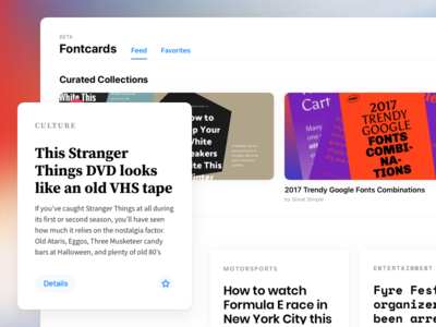 Fontcards – Web Application Beta