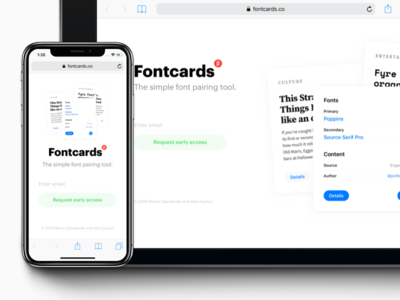 Fontcards – Early Product Page