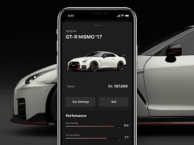 Gran Turismo Sport – Companion Concept gran turismo sport app iphonex gt ios cars auto game ui companion nissan