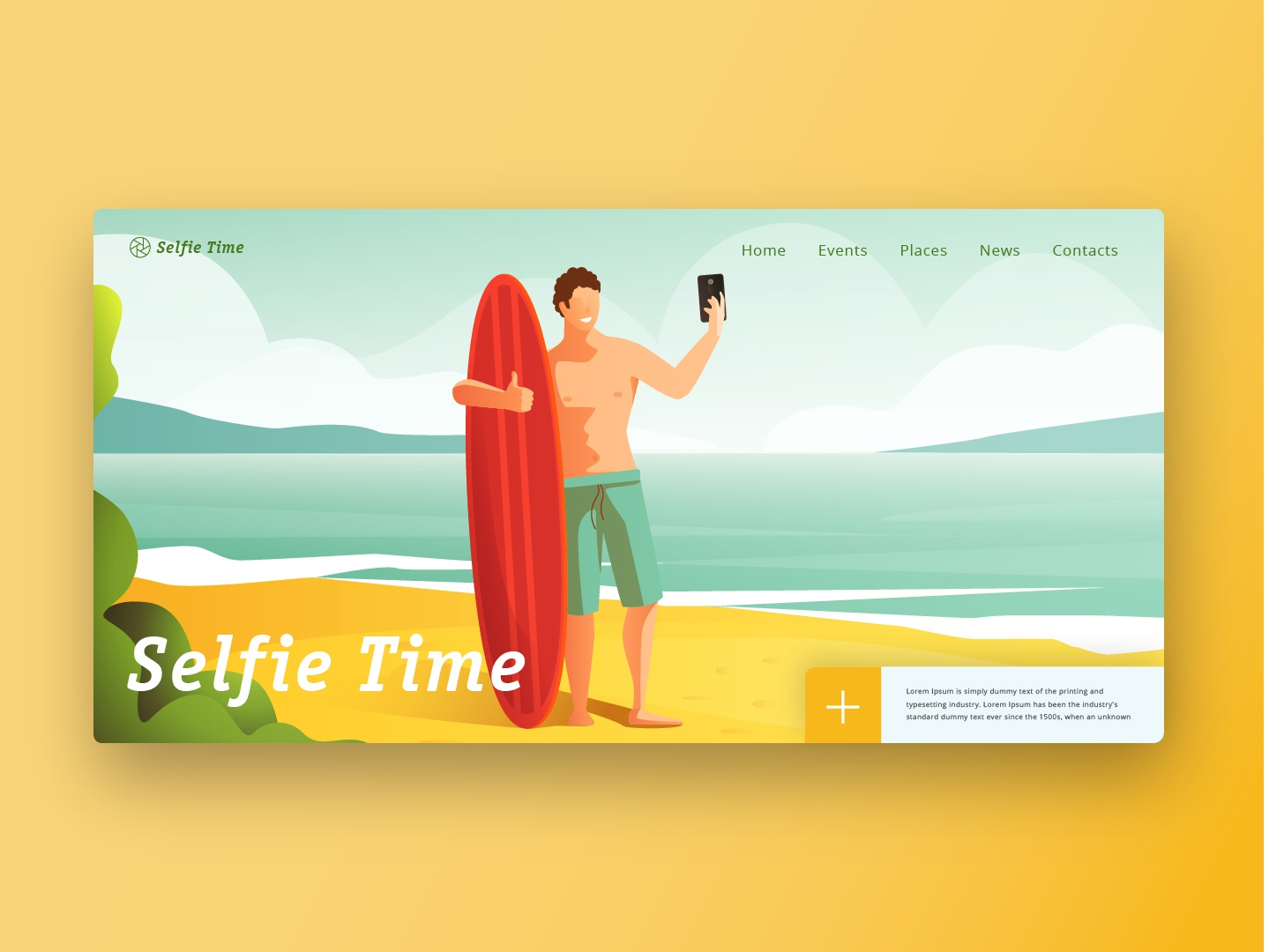 City events - out of town bich branding vector illustration website web ux ui flat design