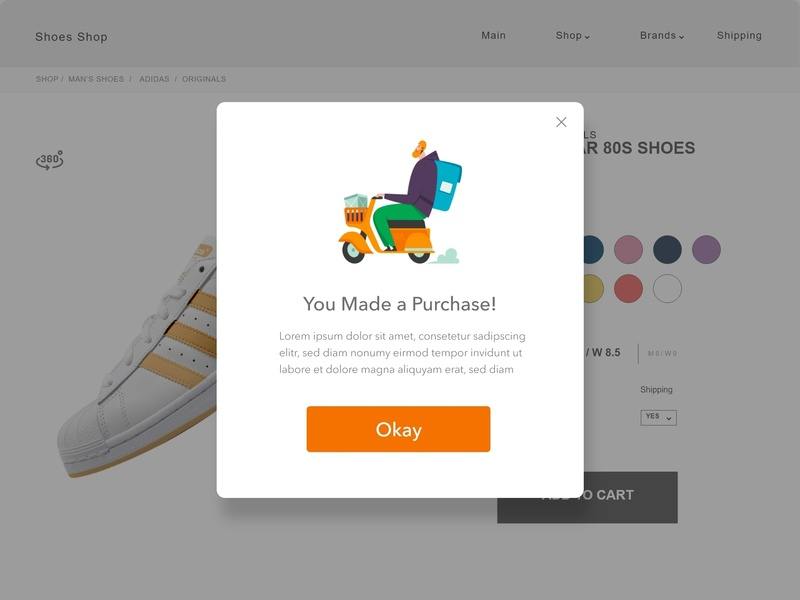 Pop-up interface illustration identity icon vector account ios clean app branding dailyuichallenge dailyui minimal website web ux ui flat design