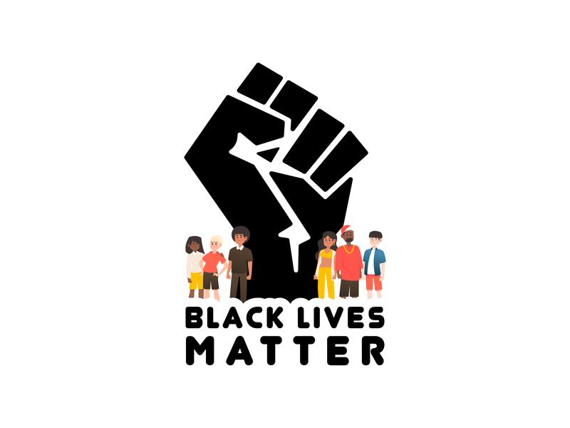 Black Lives Matter blacklivesmatter illustration illustrator design vector